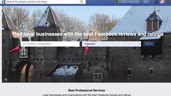 Professionale services Facebook
