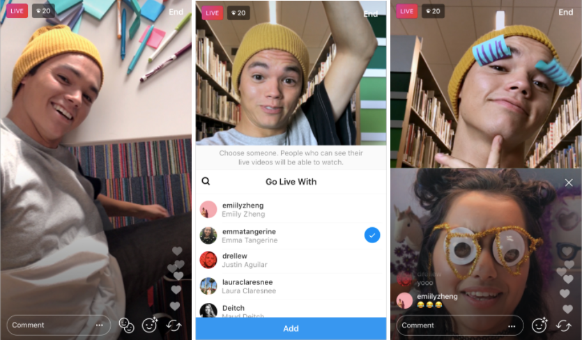 Instagram go live with friend