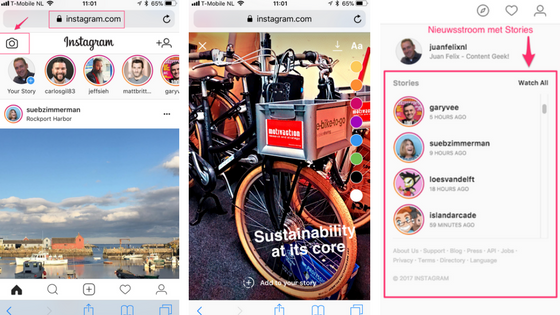 Instagram Stories Mobile Web